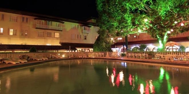 O Hotel Mantovani Cidade de Águas de Lindóia.